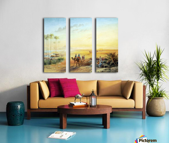 An Oasis at Giza Split Canvas print
