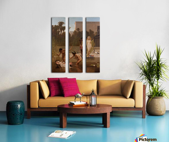 The Finding of Moses Split Canvas print