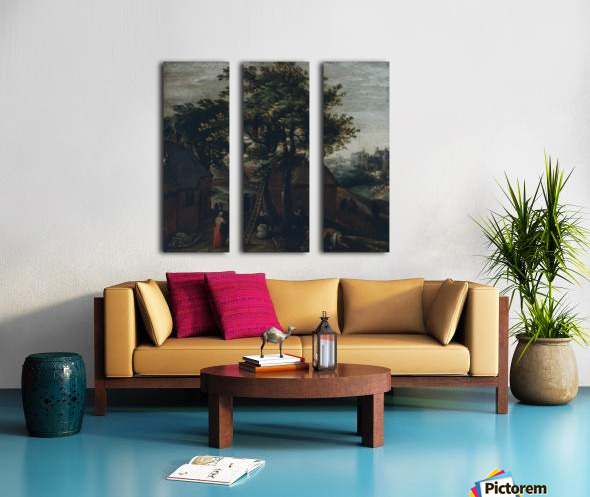 Spring Split Canvas print