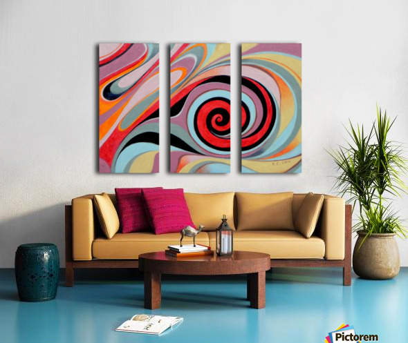 ink drop Split Canvas print
