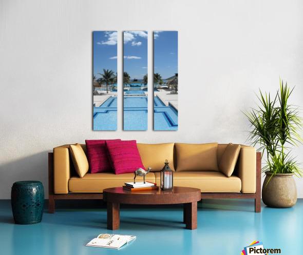 Infinity Pool Split Canvas print