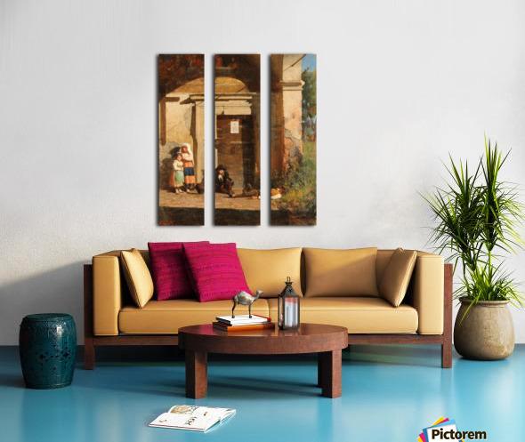 Nens sota la porxada Split Canvas print