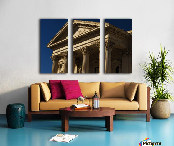 Old Building with Corinthian Pillars and Blue Sky Split Canvas print