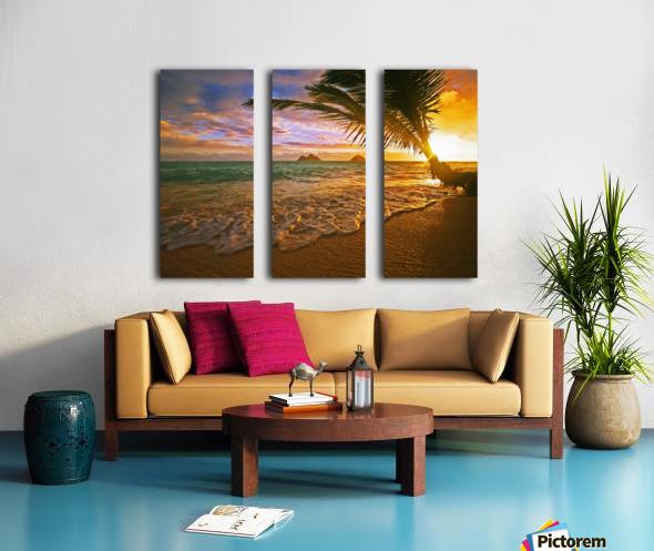 Lanikai Beach Sunset Split Canvas print