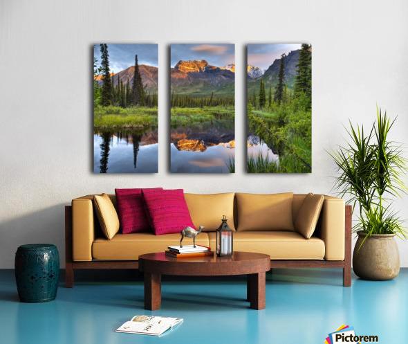 Reflection Of Skookum Volcano Split Canvas print