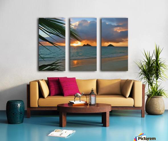 sunrise at Lanikai beach Split Canvas print