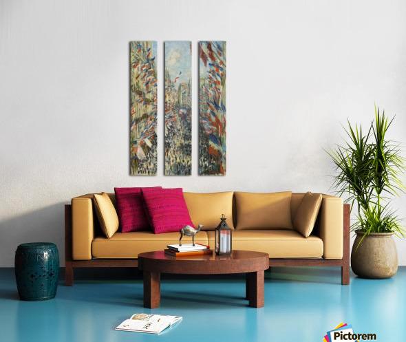 Monet - The Rue Montorgueil in Paris Split Canvas print