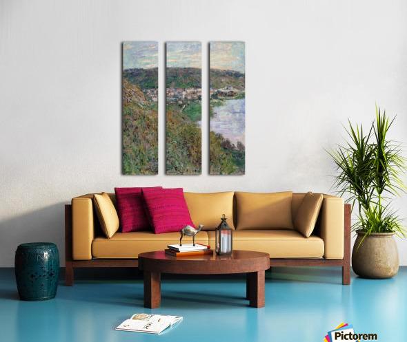 Monet - View of Vetheuil Split Canvas print