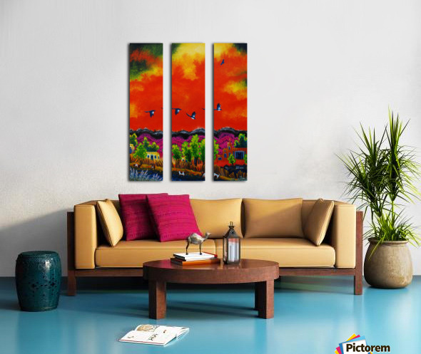 Magpies Split Canvas print