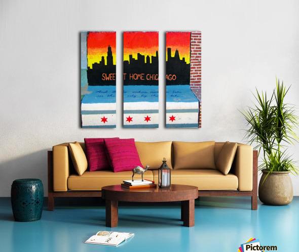 Chicago - Bench Art in Rogers Park Split Canvas print