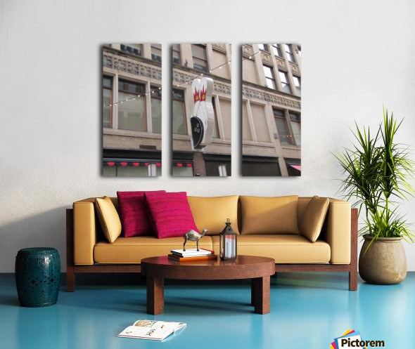 Cleveland Split Canvas print