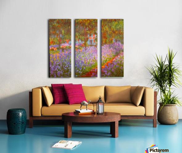 Monets Garden by Monet Split Canvas print
