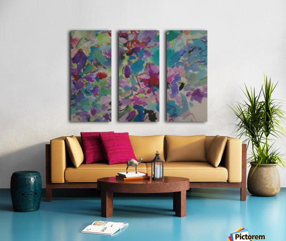Flowers Split Canvas print