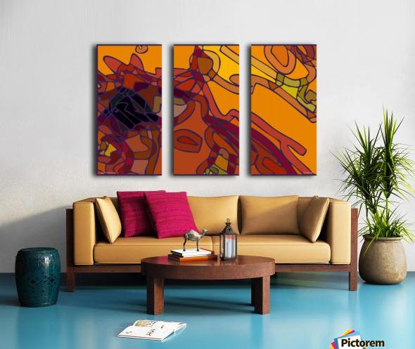 practical dream 43 Split Canvas print
