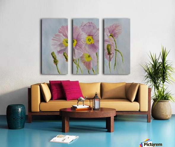 Pink Poppies Split Canvas print