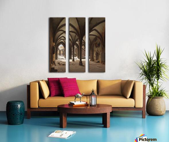 Die Ruine des Klosters Walkenried im Winter Split Canvas print