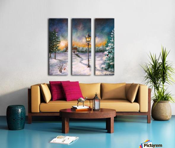 Light My Way Split Canvas print