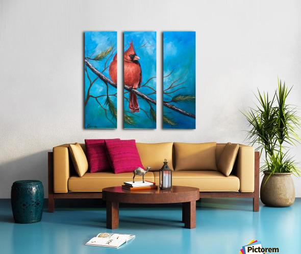 Mr. Cardinal Split Canvas print