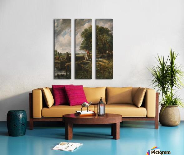 The Lock Split Canvas print