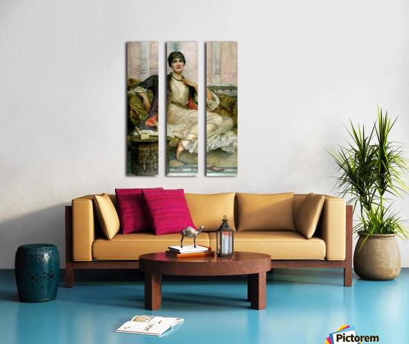 Portrait of a young lady Split Canvas print