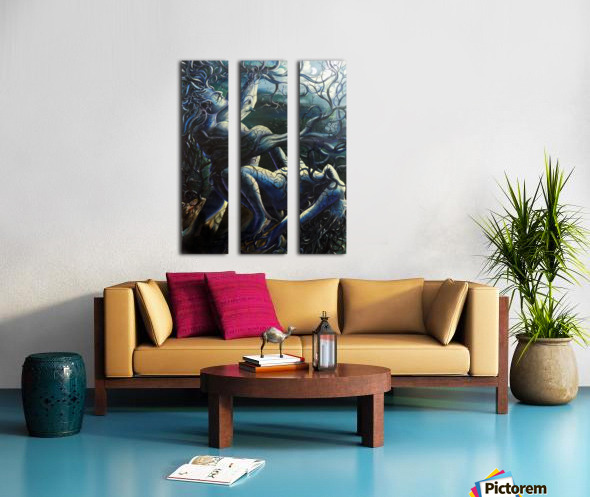 THE DANCE OF LOVE BY TREES Split Canvas print
