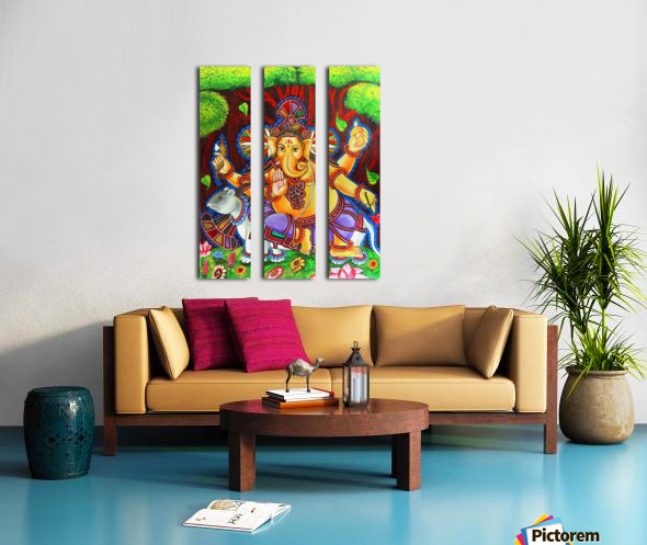 GANAPATHY MURAL Split Canvas print