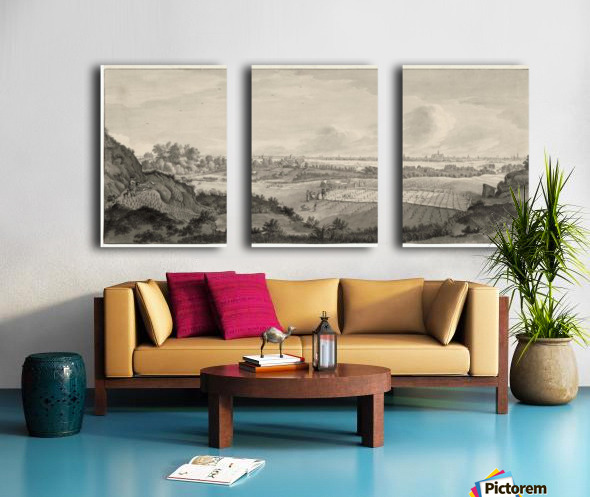 Bloemendaal Bleaching Fields with Haarlem in the Distance Split Canvas print