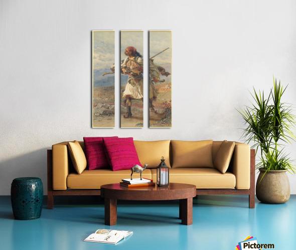 Greek Warrior Split Canvas print
