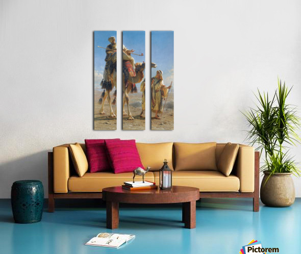 Riding the camel Split Canvas print