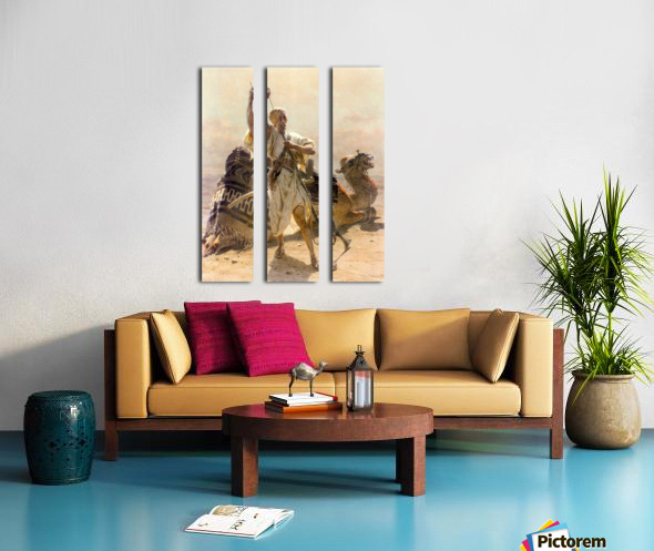 A warrior with a camel Split Canvas print