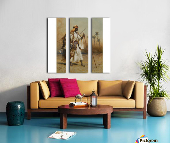 A warrior scouring the land Split Canvas print