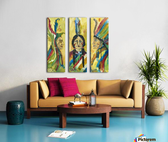 tribe Split Canvas print