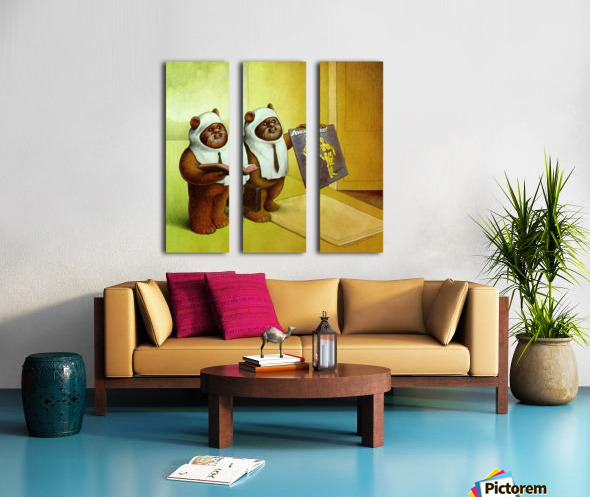 c3po Split Canvas print