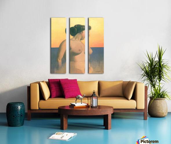Bathing 2 by Felix Vallotton Split Canvas print