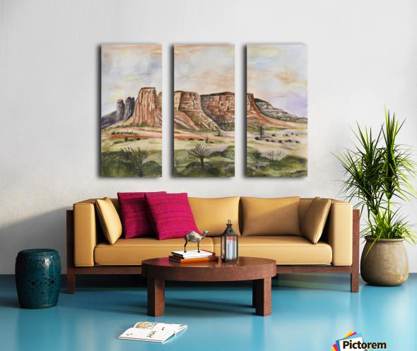 Buttes of Sedona  Split Canvas print