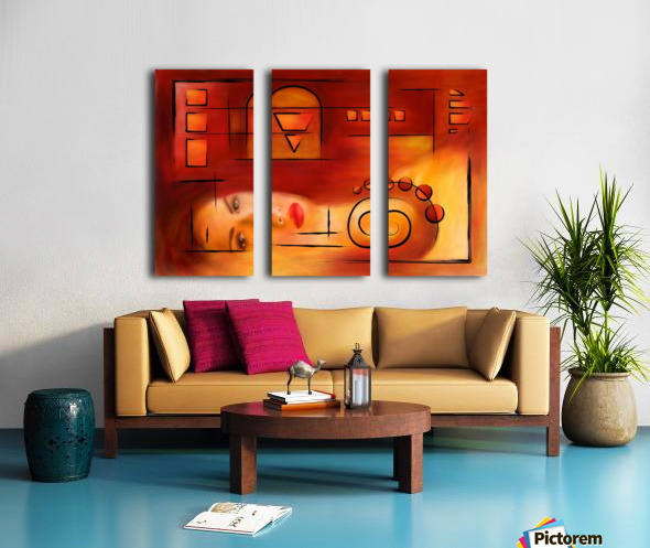 Seymeufor - the miracle Split Canvas print