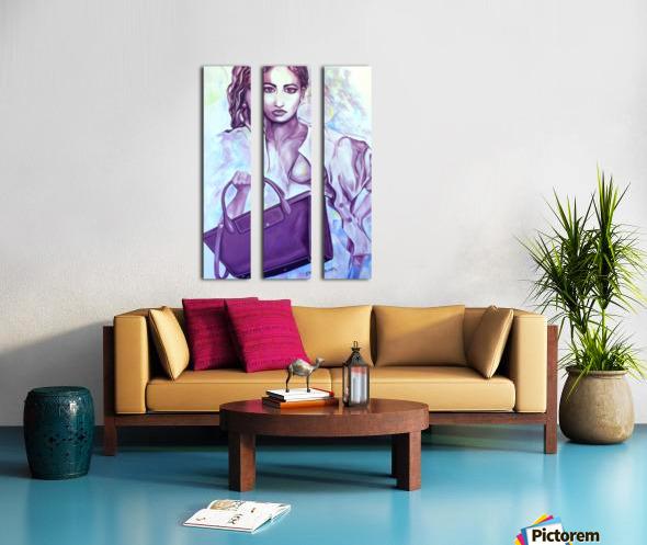 bag_lady_print Split Canvas print