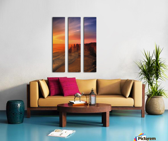 Sunset And Rock Formations Split Canvas print