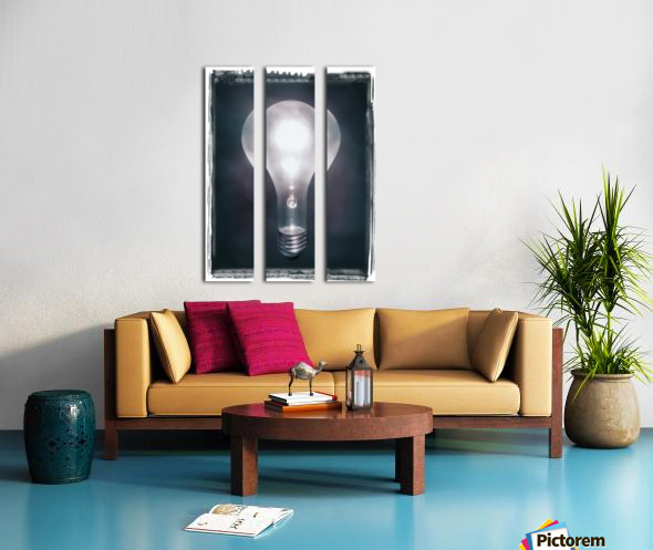 Light Bulb Split Canvas print