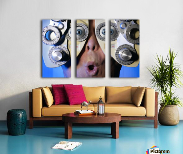 Eye Exam Split Canvas print