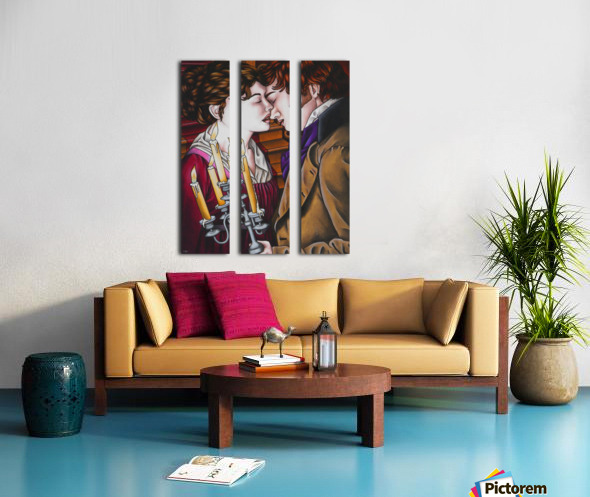 Eternal love Split Canvas print