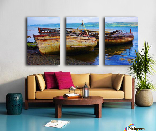 Three wrecks Split Canvas print