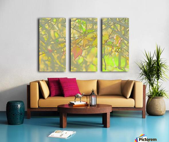 Leaves Macro 5 Abstract 1 Split Canvas print