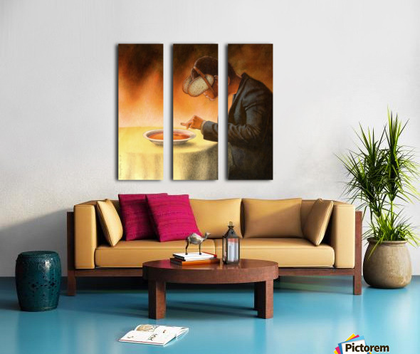 blind Split Canvas print