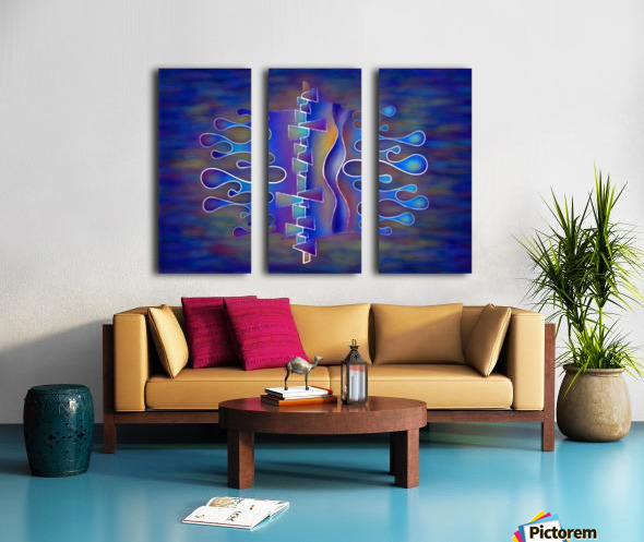 Grafenonci V5 - abstract butterfly Split Canvas print