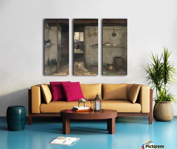 Doorkijkje in het onderhuis van Weissenbruch's woning in Den Haag Split Canvas print