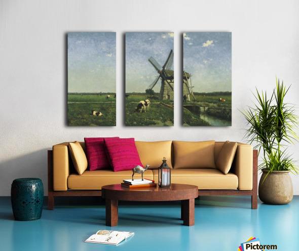 Landscape with Windmill near Schiedam Split Canvas print
