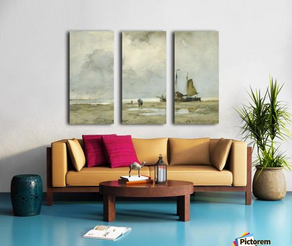 Strandgezicht Split Canvas print