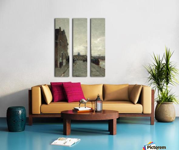 A View on Het Spaarne, Haarlem Split Canvas print