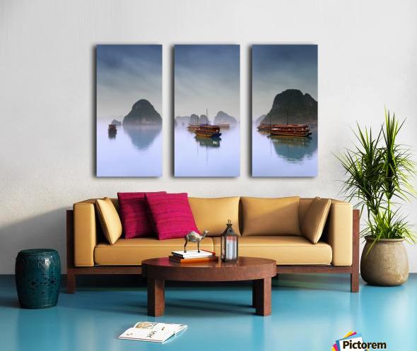 Hotel Junks, Halong Bay, Vietnam Split Canvas print